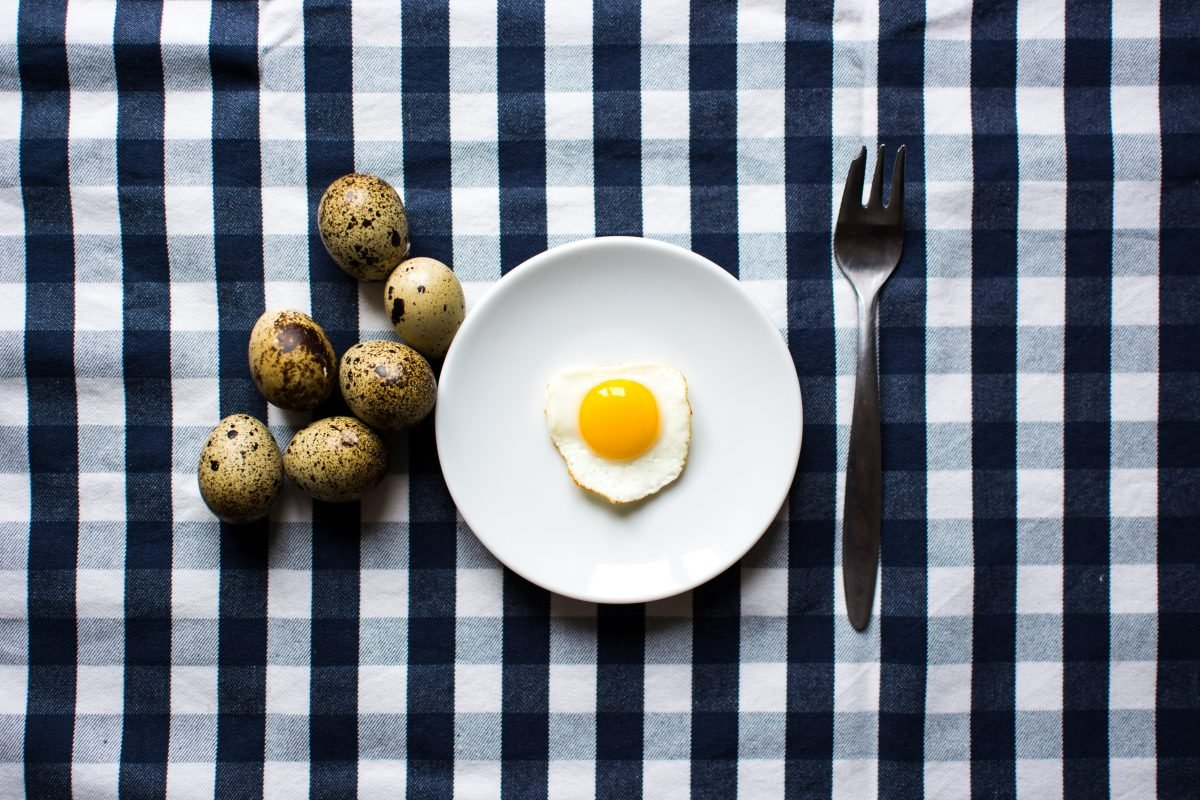 Quail egg for breakfast