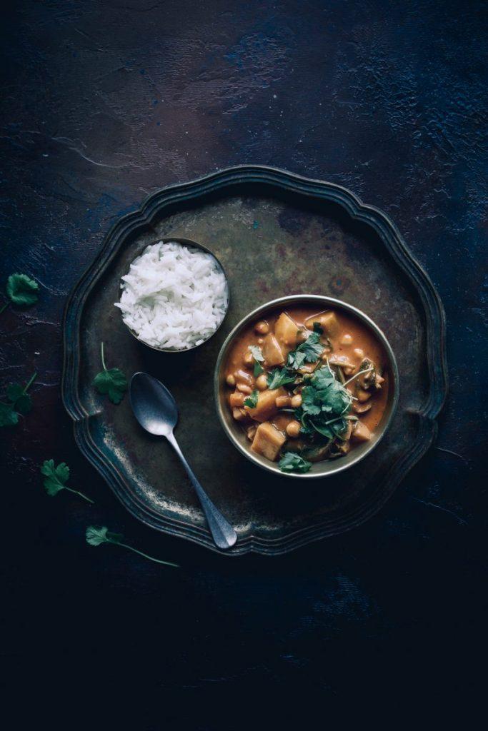 Vegan chickpea and potato curry