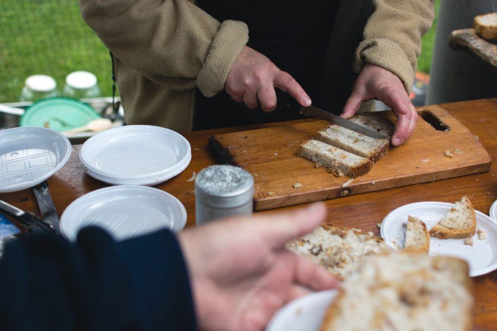 Traditional Czech bread with lard