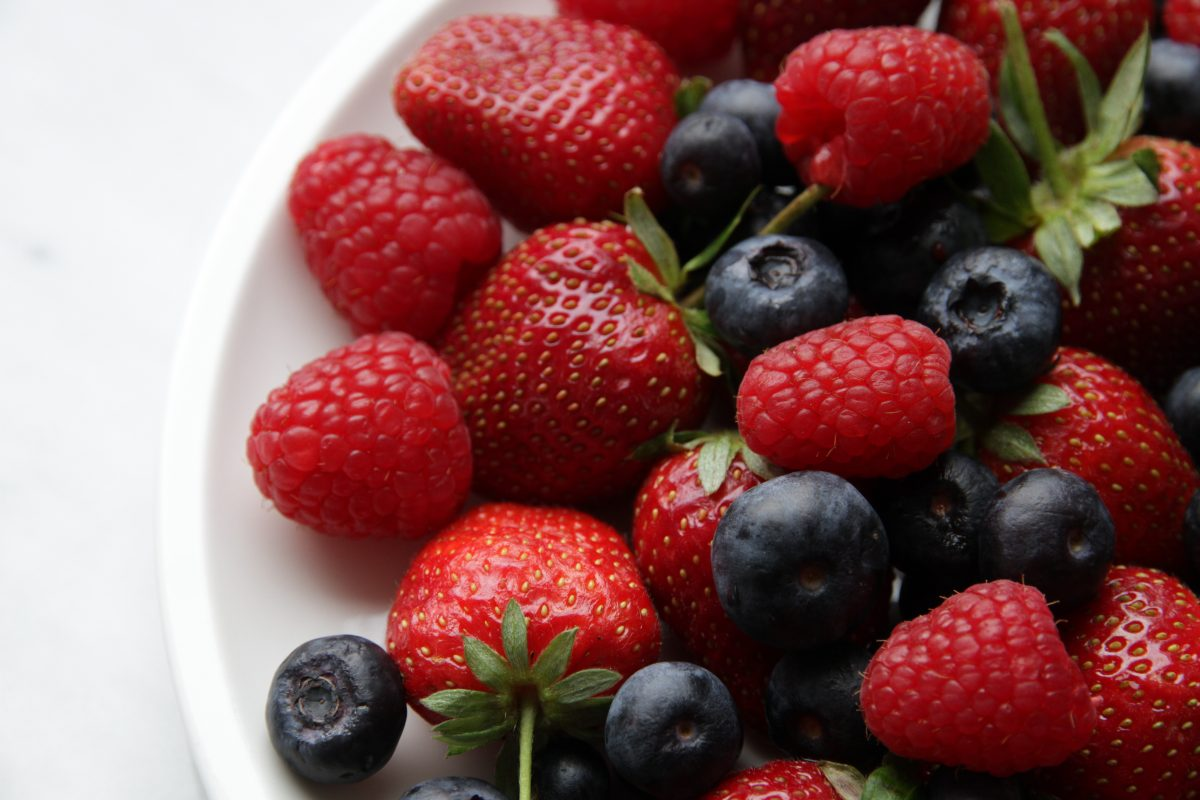 Healthy berries close up