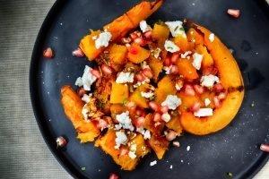 Pumpkin Salad with Feta and Seeds