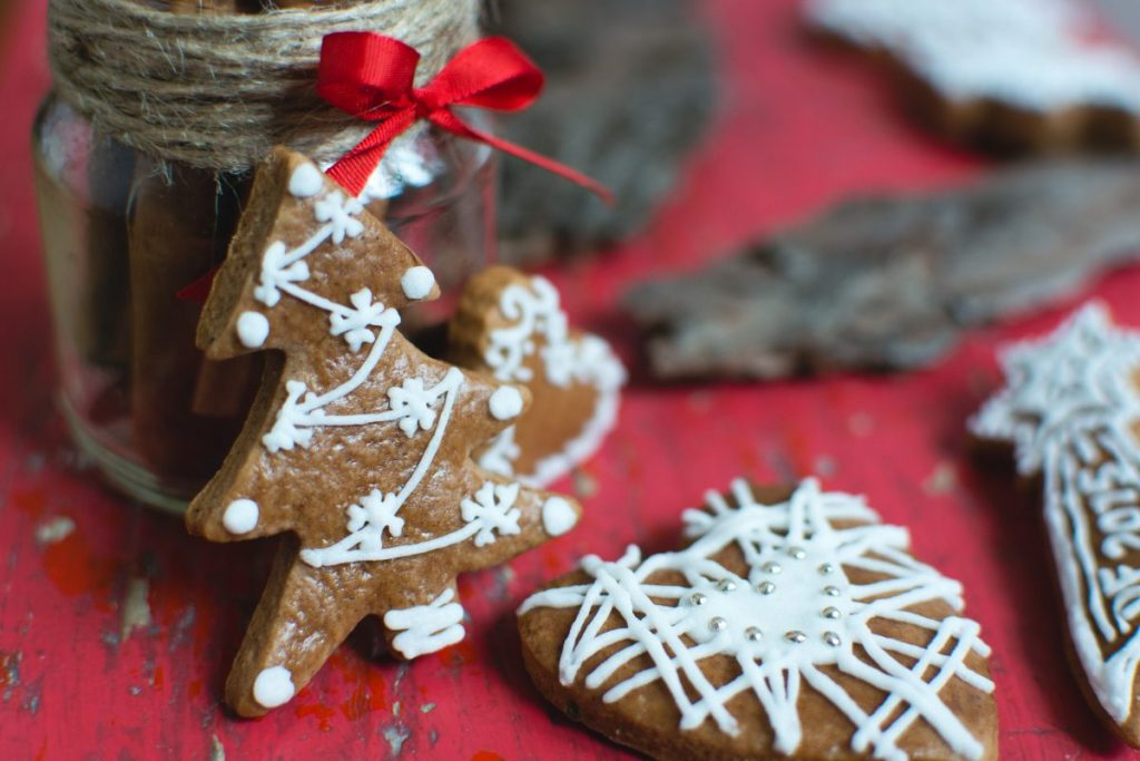 Christmas gingerbread tree detail