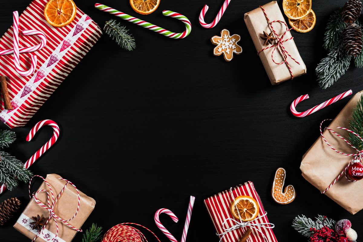 Christmas candies and gingerbread hero image