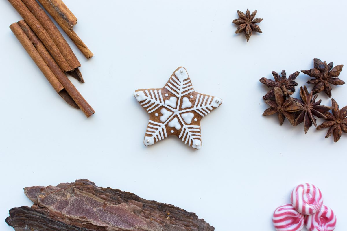 Cute homemade Christmas cinnamon gingerbread