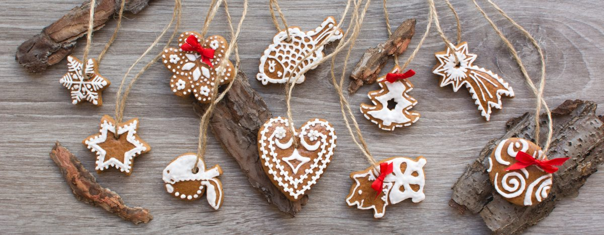 Bunch of homemade Christmas cinnamon gingerbreads