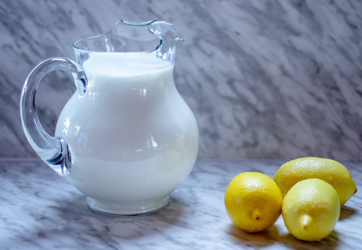 Milk and lemons