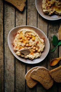 Delicious hummus with bread