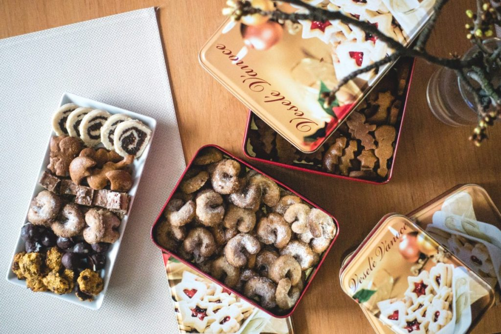 Traditional European Christmas homemade sweet pastry