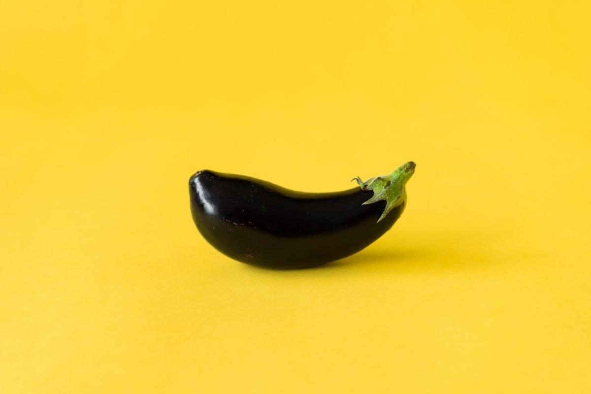 Bright eggplant