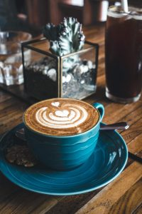 Dreamy flatwhite coffee with perfect latte art