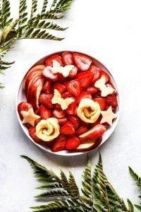 Fresh strawberry platter