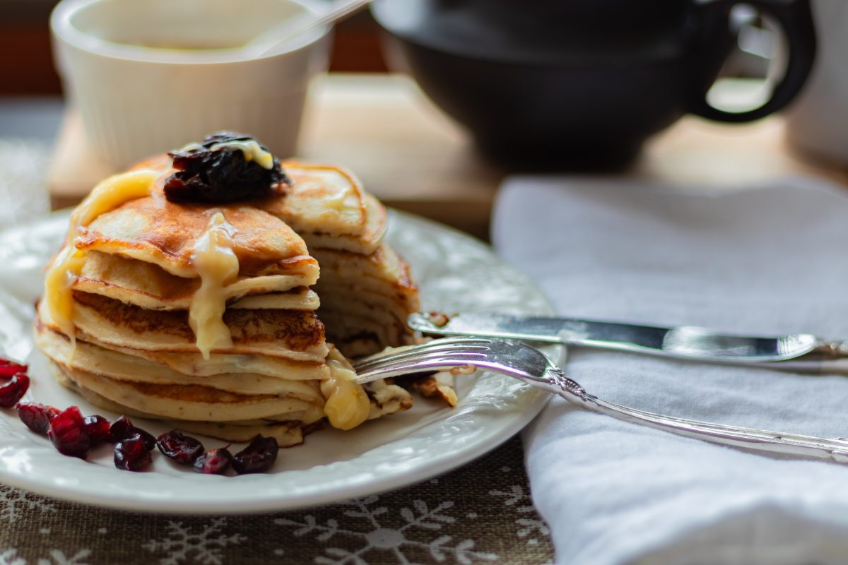 Orange Cheese Pancakes