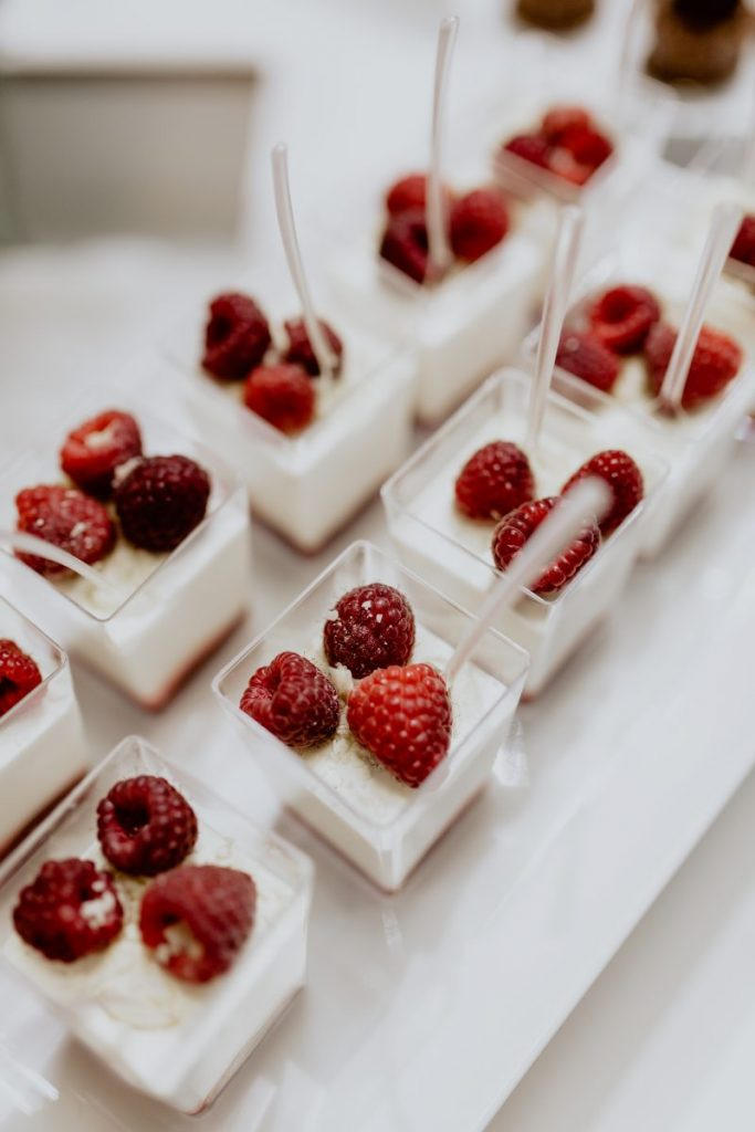 Raspberry cheesecake desserts