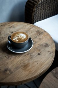 Cappuccino in a cozy coffeeshop