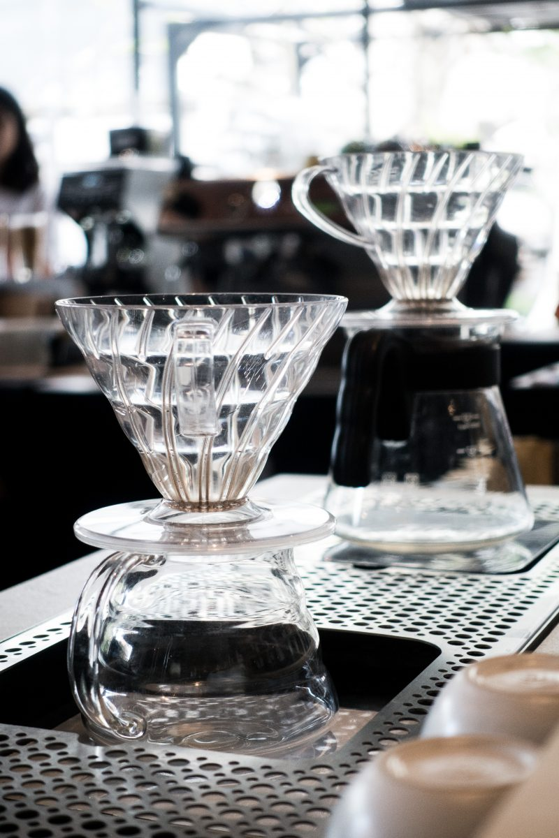 Glass coffee filter V60
