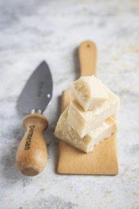 Parmesan cheese close up