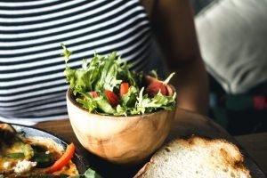 Small vegetable side salad