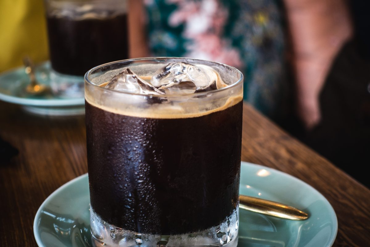 Iced black coffee