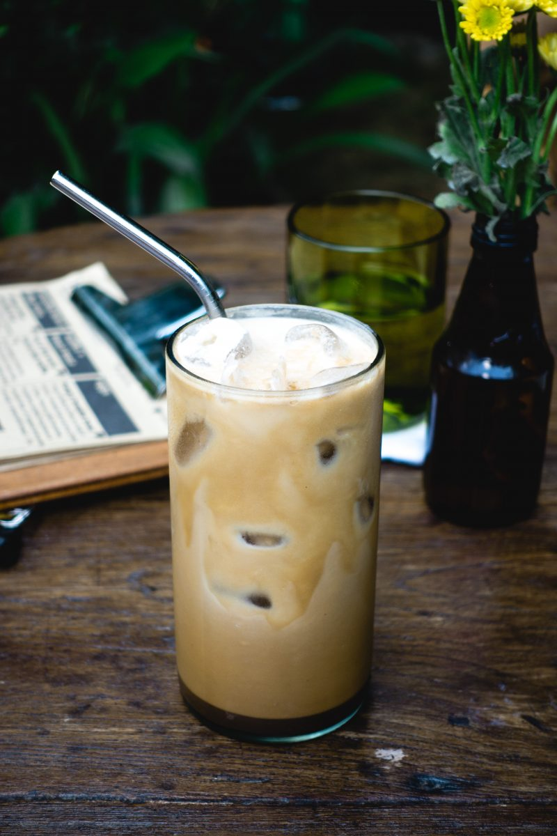 Iced coffee with milk cafe latte
