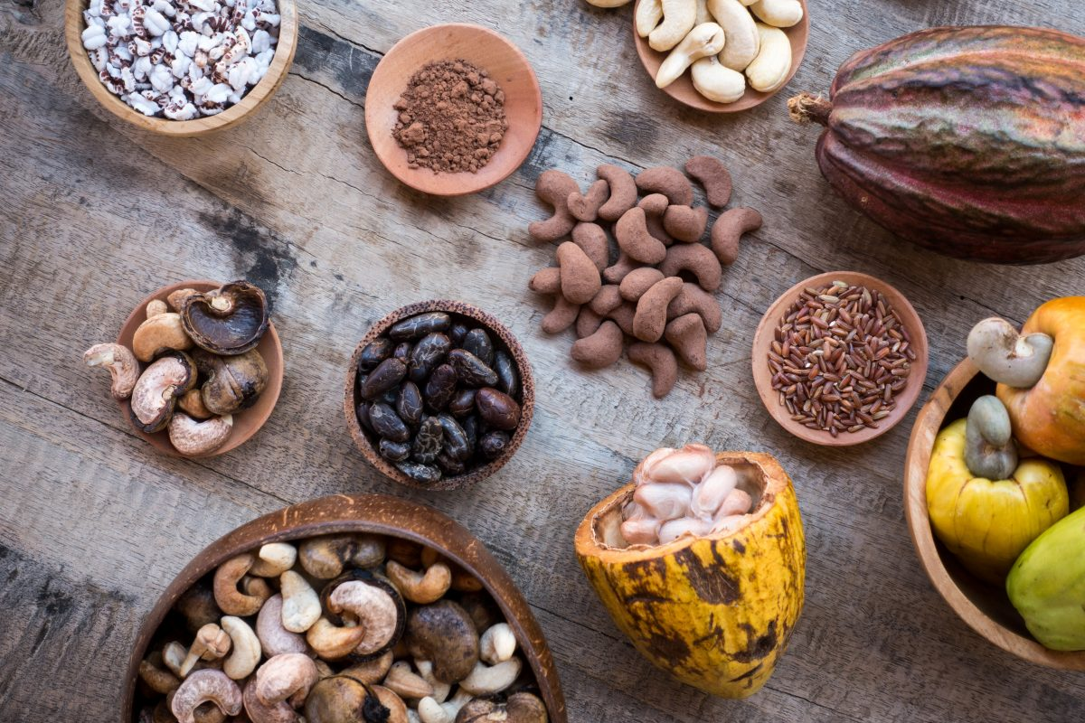 Cocoa and other tropical produce from above