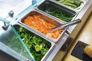 Fresh vegetables for preparing sandwiches