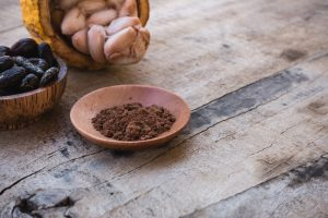 Freshly made cocoa powder