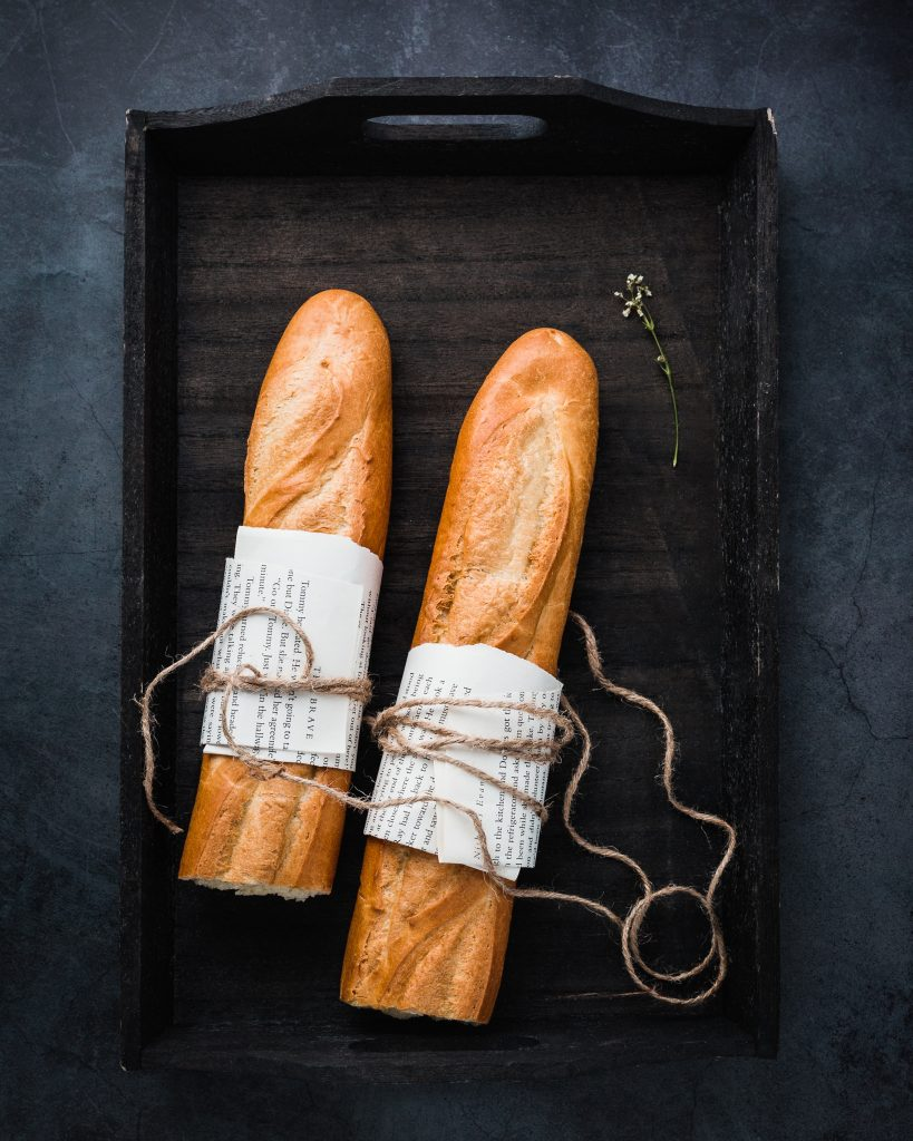 Plain white baguettes