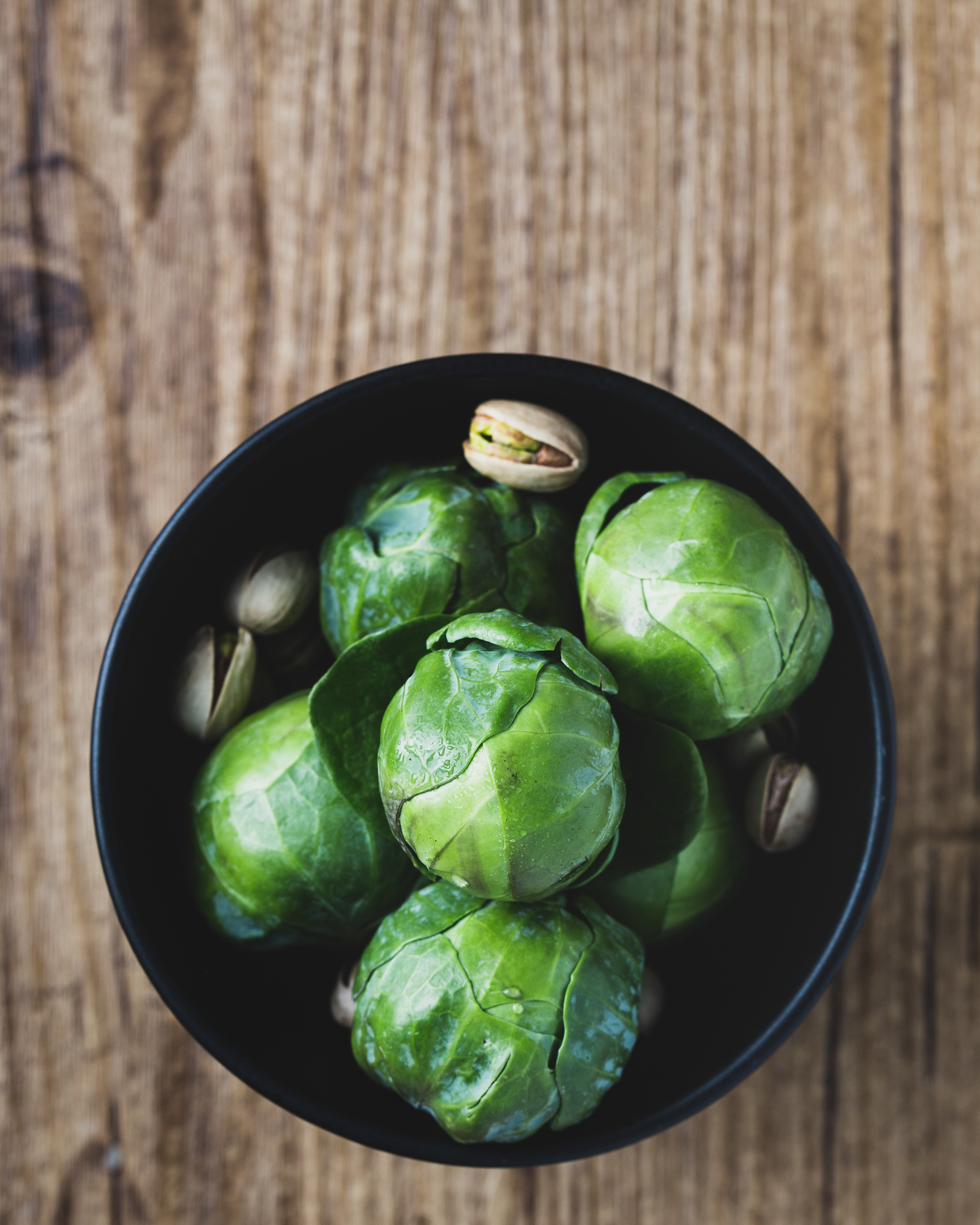 Brussel sprouts with pistachios