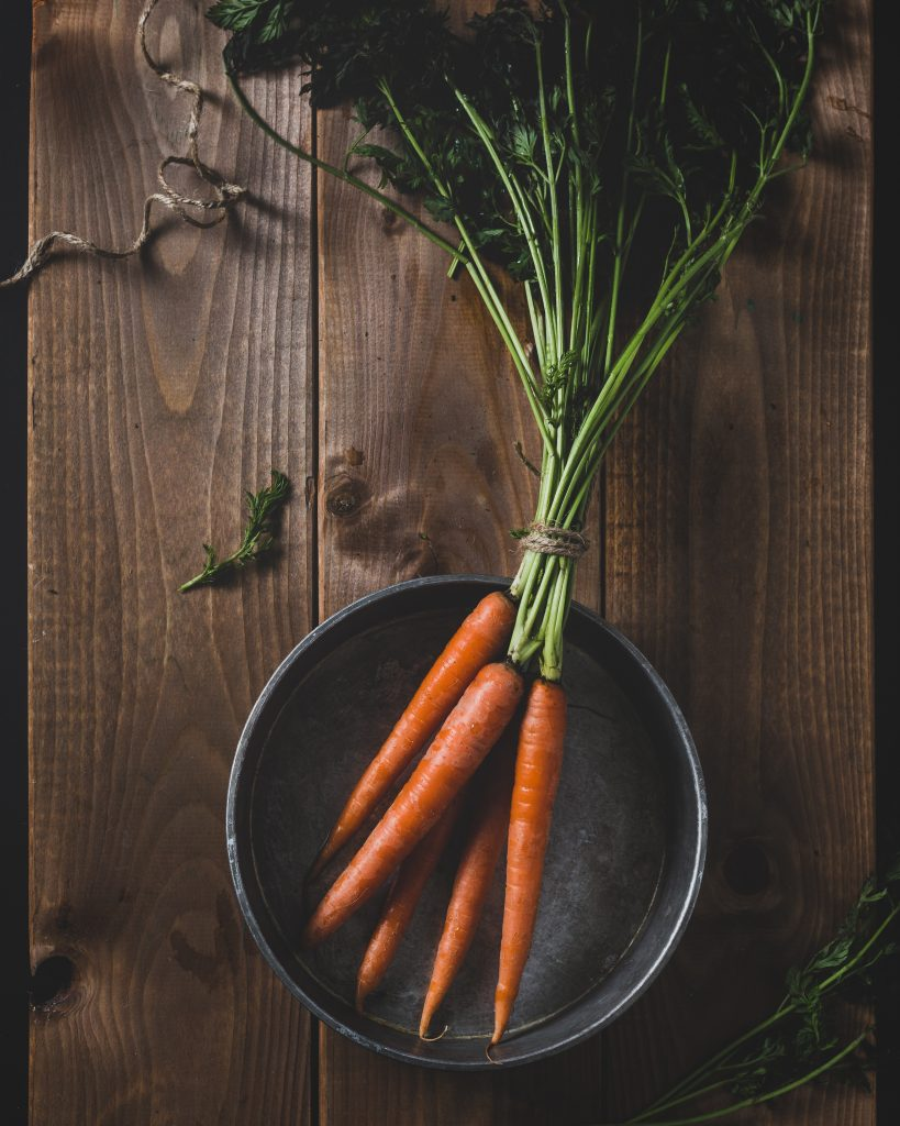 Fresh carrots from a market
