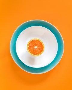 Colorful grapefruit