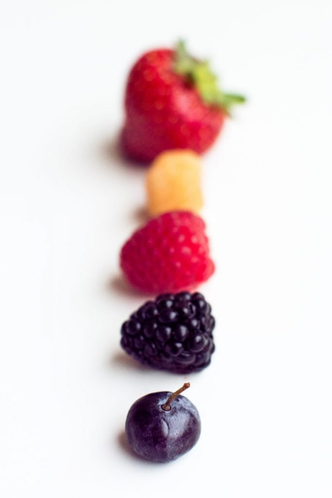 Beautiful colorful healthy berries