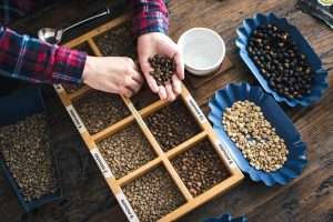 Types of roasted coffee beans