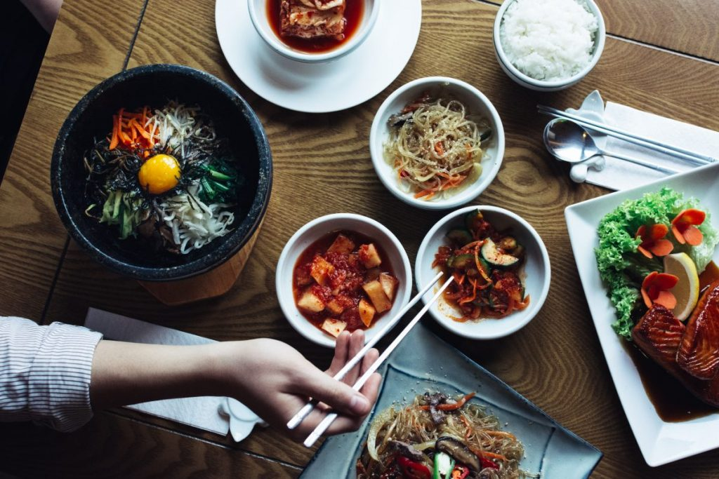 Bibimbap, Kimchi and other traditional Korean food