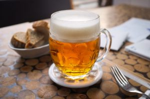 Czech lager beer from the tap