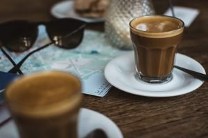 Planning a trip with coffee