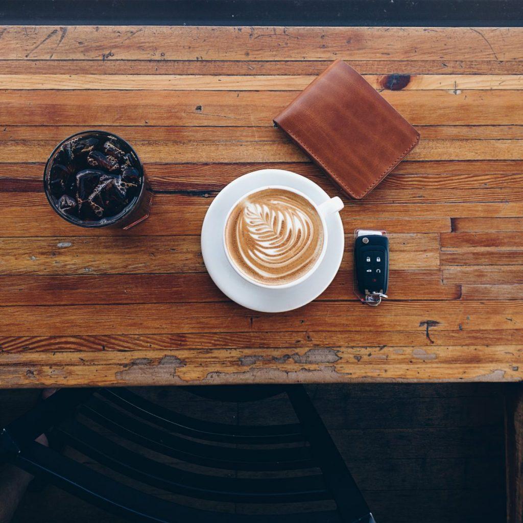 Driver stops for a caffeine fix