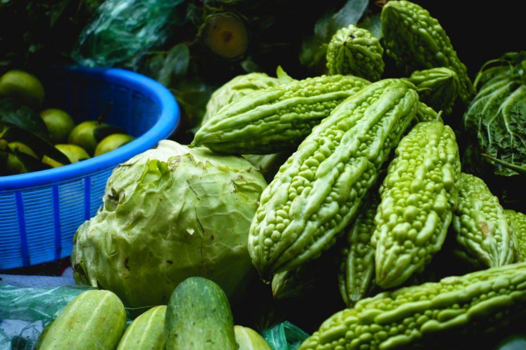 Bitter melon at the Asian market