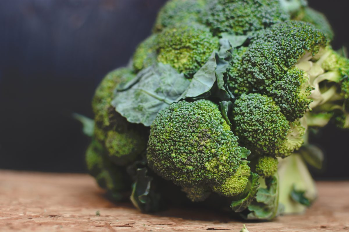 Close up on healthy green broccoli