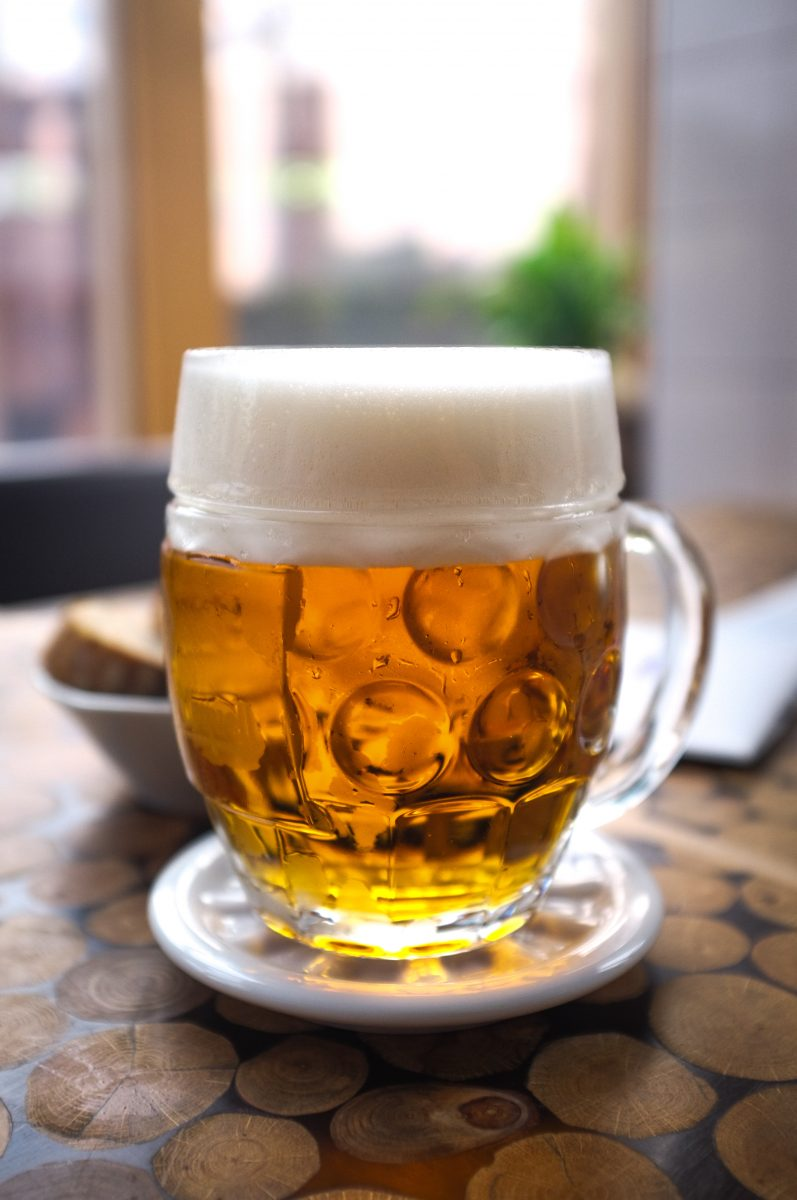 Perfectly tapped Czech pilsner beer