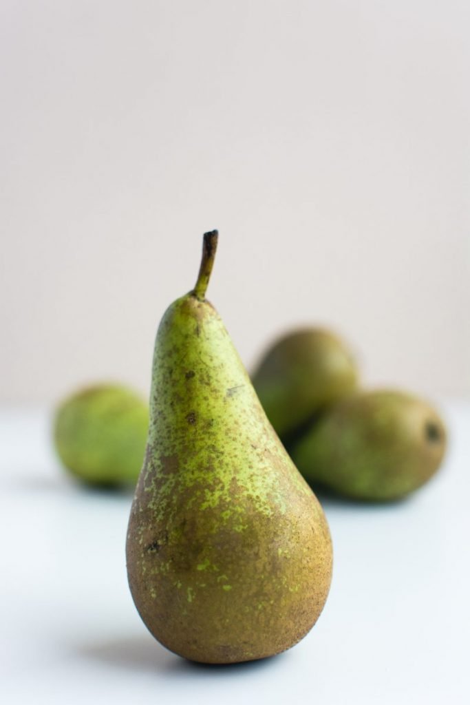 Detail of fresh pear