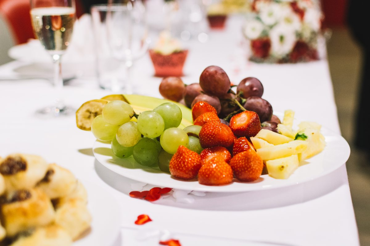 Fruit platter on a wedding party