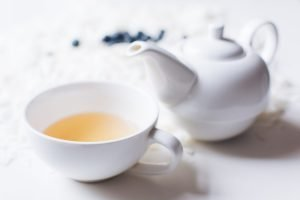 Rooibos tea in a white cup