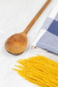Pasta spaghetti on the table