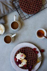 Chocolate Waffles and Coffee