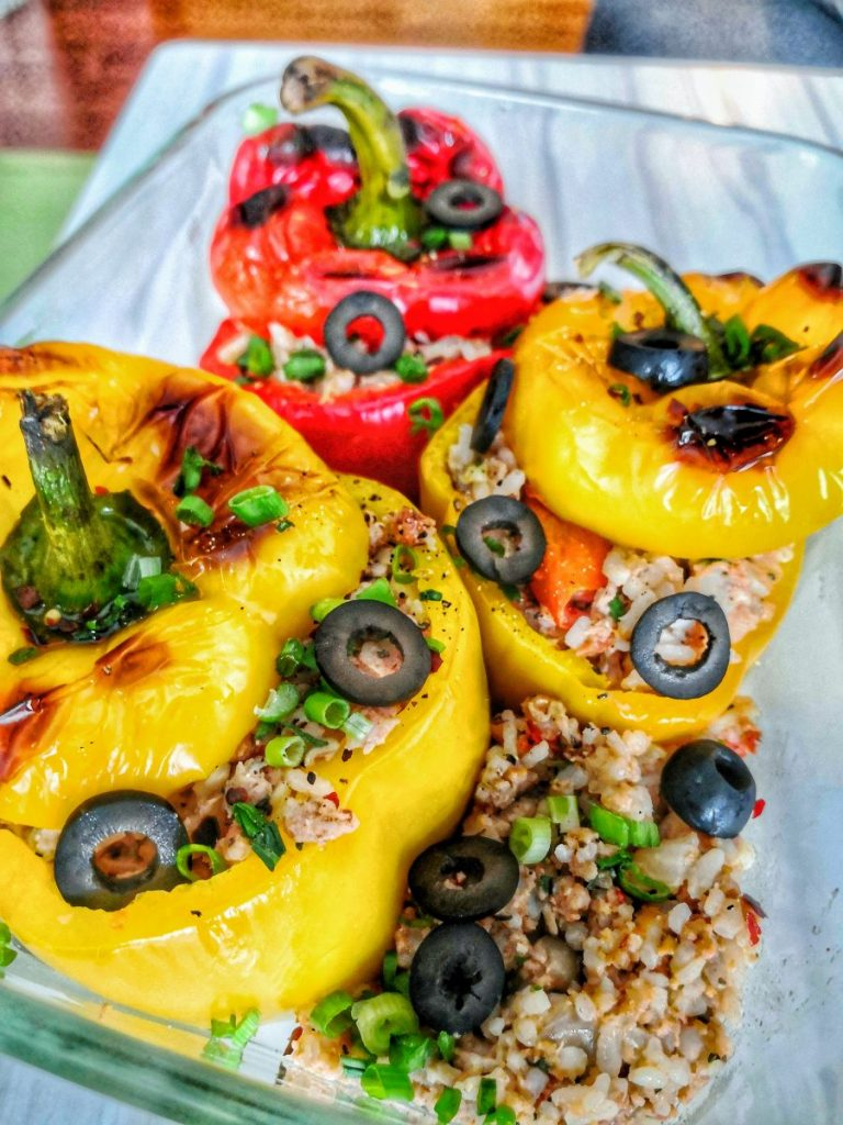 Stuffed Bell Pepper Rice