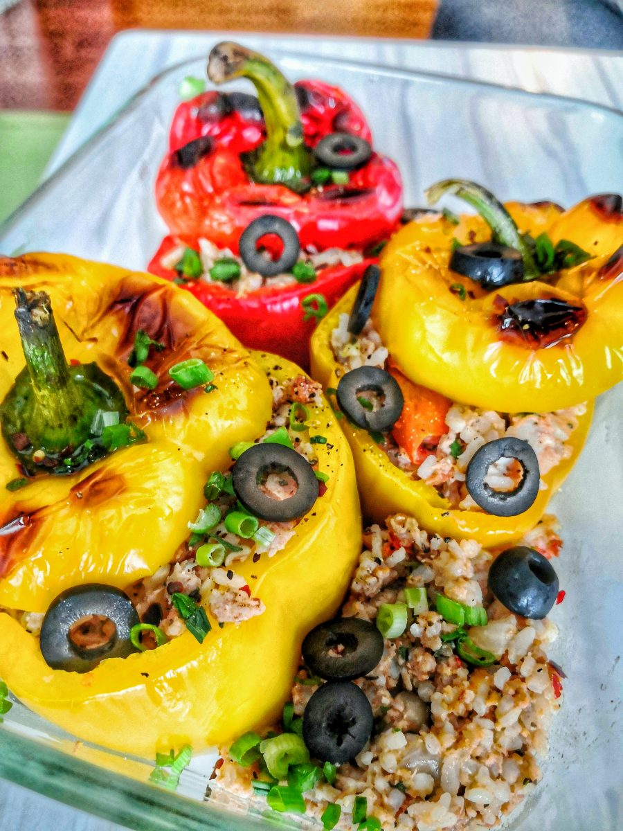 Stuffed Bell Pepper Rice