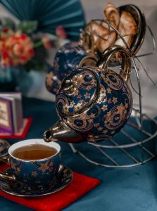 Oriental teapot with a cup
