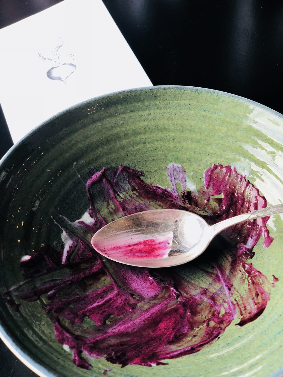 Beetroot meal aftermath