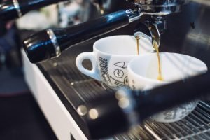 Espresso dripping from portafilter