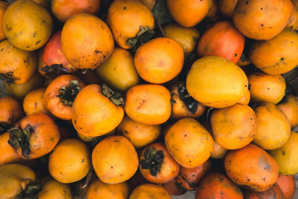 Persimmon kaki fruit